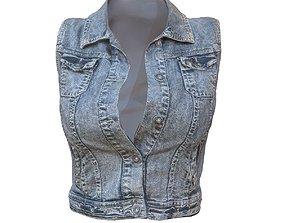 Mini Jeans Jacket 3D asset