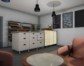 Bakery - interior and props 3D model