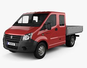 GAZ Gazelle Next Double Cab Flatbed Truck 2013 3D