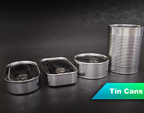 3D model Tin Can Set