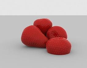 Strawberry 3D eat