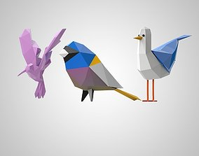 3D print model set birds