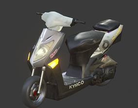 3D model Kymco Agility 2009 Moped Scooter