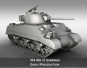 M4 Sherman MK III British army 3D