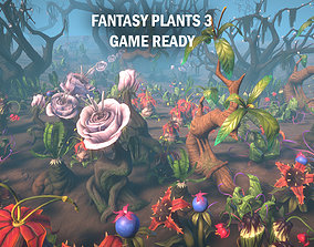 3D model realtime Fantasy plants 3
