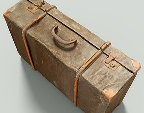 Vintage Suitcase Retro Valise 3D model game-ready