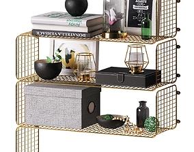 Decorative set with shelves IKEA 3D magazine