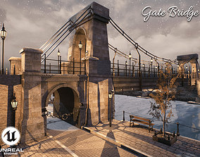 Gate Bridge Unreal Engine 3D model