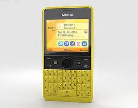 Nokia Asha 210 Yellow 3D model