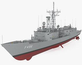 3D Oliver Hazard Perry-class frigate