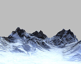 3D model Snow Mountain Terrain