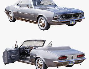 3D model Chevrolet camaro 1967 convertible