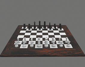 lp Chess Set Game-Ready 3D asset