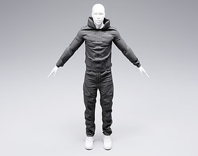 3D model fashion Cyberpunk jacket and pants