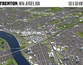 Trenton New Jersey USA 50x50km 3D model