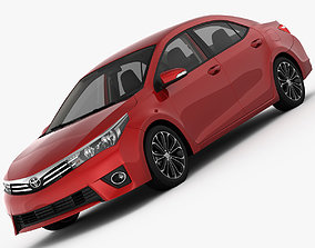 3D model Toyota Corolla E170 Live 2014 detailed