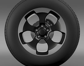 3D Jeep Wrangler Polar 2014 wheel