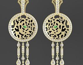 earrings famale leopard 3D print model