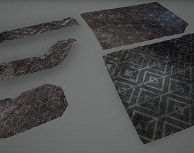 3D model Cyberpunk Carpets Low Poly Game Ready Sci-fi