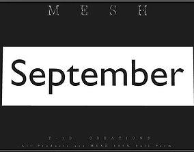 September - C 3D asset