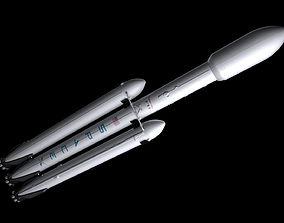 space Falcon Heavy rocket 3D model