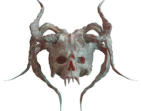 alien 3D model Devil Skull With Horns