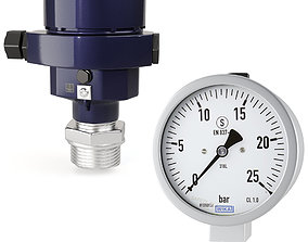 3D model WIKA Process pressure transmitter CPT-20 and