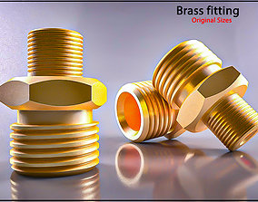 Original Size Brass fitting Nr 245 M17 Ready for print 3D