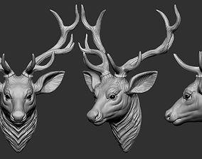 3D printable model Deer Head architectural