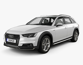 Audi A4 B9 Allroad with HQ interior 2017 3D