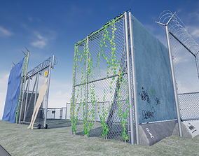 3D model Chain Link Fence PBR