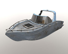 3D model motorboat yacht cutter old shabby power boat
