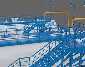 3D model C2-separator of Oil refinery