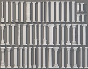 classic Columns Collection -1 - 51 pieces 3D
