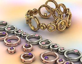 3D printable model 4-link bracelet