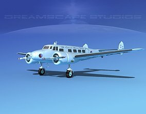 Lockheed L10 Electra Eastern 3D model