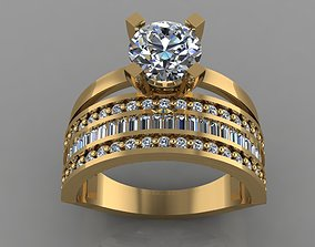 GC GOLD TW0152- Diamond ring 3D print model