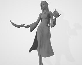 Female High Elf Wizard 3D Model elf