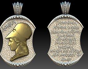 3D print model sculpture athena goddess pendant