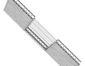 Concrete Fence 06 3D