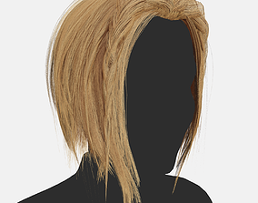 3D model Short woman hairstyle