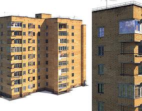 Soviet nine-story house 3D