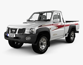 3D Nissan Patrol pickup with HQ interior 2016