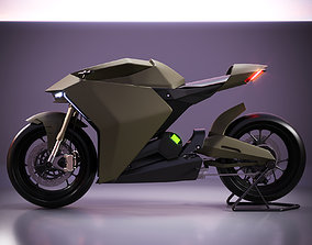 3D model Ducati Zero electric motorcycle concept