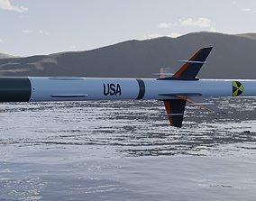 low-poly Missile 3D model