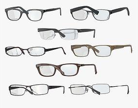 Glasses Set 3D asset