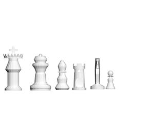 lowpoli chess pieces 3D print model