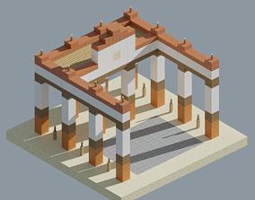 3D asset low-poly Ancient Forum