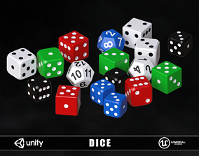 Playing Dice 3D model