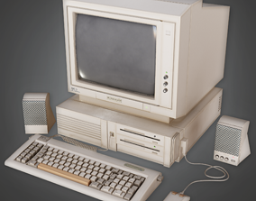 Retro Computer - CLA - PBR Game Ready 3D model